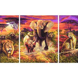 Раскраска по номерам Schipper ''Африка'' триптих 9260520