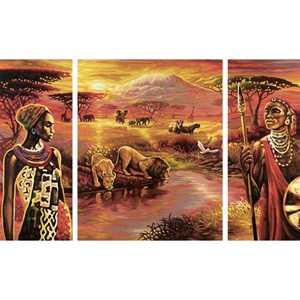 Раскраска по номерам Schipper ''Килиманджаро'' триптих 9260438