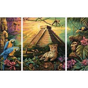 Раскраска по номерам Schipper ''Пирамида народа Майя'' триптих 9260486