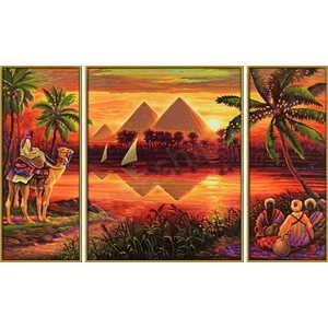 Раскраска по номерам Schipper Триптих Пирамиды триптих 9260442 schipper триптих африканские слоны