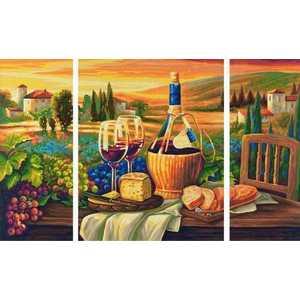 Schipper Раскраска по номерам Триптих Сладкая жизнь 9260537 наборы для рисования цветной картины по номерам колокольчики мои