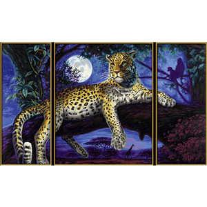 Раскраска по номерам Schipper ''Ягуар в ночи'' триптих 9260607