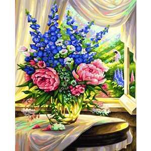 Раскраска по номерам Schipper Цветы на столе 9130601 наборы для рисования цветной раскраски по номерам сова голова