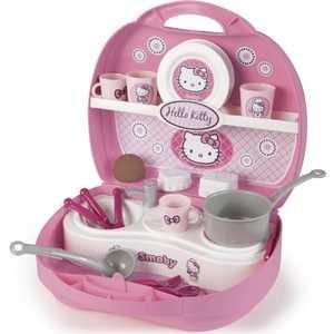 Smoby Мини-кухня в чемоданчике Hello Kitty 24782*** кухня игрушечная smoby smoby детская кухня для девочек minnie мини