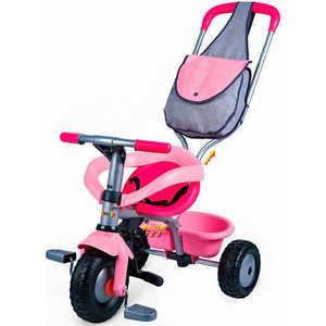 Велосипед 3-х колесный Smoby (розовый) с сумкой 444141