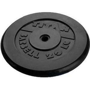 Диск обрезиненный Titan 26мм 20кг черный диск обрезиненный titan 26 мм 5 кг черный