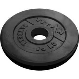 Диск обрезиненный Titan 51 мм 10 кг черный цены онлайн