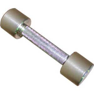 Гантель неразборная MB Barbell Фитнесс 9,0 кг (хром) гантель обрезиненная mb barbell фитнесс 9 0 кг черная