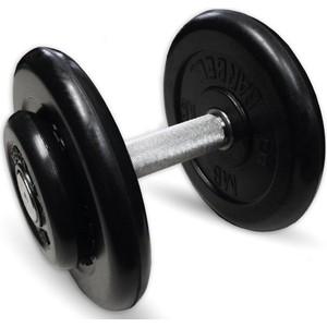 Гантель профессиональная MB Barbell Профи черная 13.5 кг гантель обрезиненная mb barbell фитнесс 1 0 кг черная