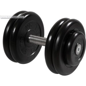 Гантель профессиональная MB Barbell Профи черная 23.5 кг гантель профи mb barbell черная 31 кг