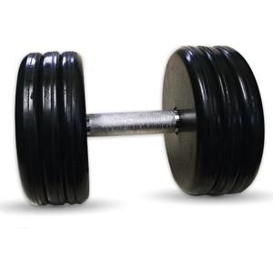 Гантель профессиональная MB Barbell Профи черная 41 кг гантель профессиональная mb barbell профи черная 18 5 кг