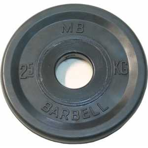 Диск обрезиненный MB Barbell 51 мм 2.5 кг черный Евро-Классик (Олимпийский) диск обрезиненный mb barbell 51 мм 25 кг красный евро классик олимпийский