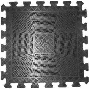 Коврик резиновый MB Barbell 400 х 400 х 20 мм черный