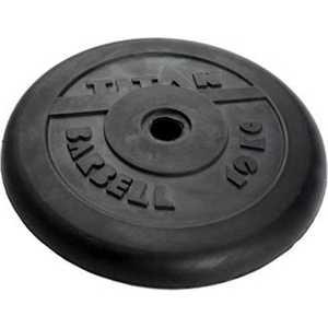 Диск обрезиненный Titan 31мм 10кг черный диск обрезиненный star fit bb 201 d 26 мм стальная втулка 10кг
