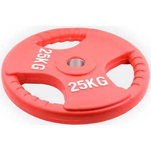 Диск обрезиненный Евро-Классик 51 мм 25 кг красный с тройным хватом (Олимпийский)