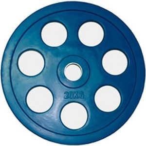 Диск обрезиненный Евро-Классик 51 мм 20 кг синий с хватом ''Ромашка'' (Олимпийский)