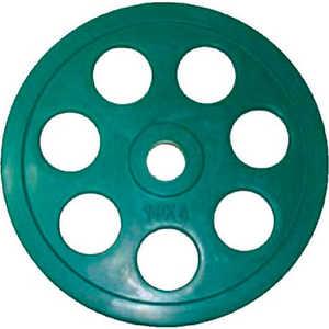 Диск обрезиненный Евро-Классик 51 мм 10 кг зеленый с хватом ''Ромашка'' (Олимпийский)
