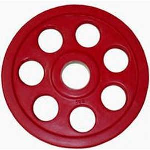 Диск обрезиненный Евро-Классик 51 мм 5 кг красный серия ''Ромашка'' (Олимпийский)