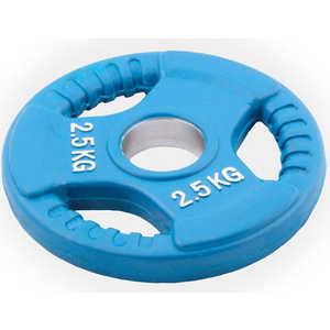 Диск обрезиненный Евро-Классик 51 мм 2.5 кг синий с тройным хватом (Олимпийский)