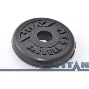 Диск обрезиненный Titan 26 мм 25 кг черный диск обрезиненный titan 26 мм 5 кг черный