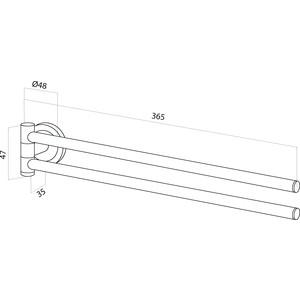 Полотенцедержатель Am.Pm Serenity двойная вертушка (A4032600) renolux автокресло serenity griffin