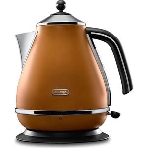 Чайник электрический DeLonghi KBOV 2001.BW средство для удаления накипи delonghi ecodecalk 500ml