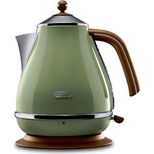 Чайник электрический DeLonghi KBOV 2001.GR средство для удаления накипи delonghi ecodecalk 500ml