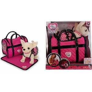 Фотография товара набор Chi Chi Love Собачка Чихуахуа с пледом, с сумкой, 20см, 1/12 5899700 (181746)
