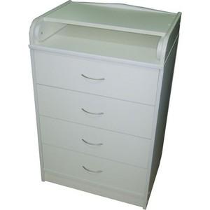 Комод раскладной Атон-Мебель ЛДСП (белый) КР60/4 пеленальный комод атон мебель кр60 4 лдсп бук