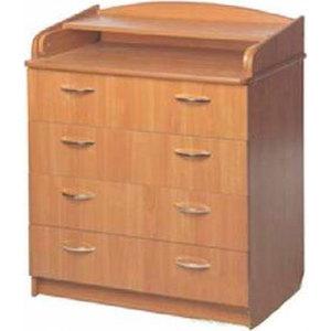 Комод раскладной Атон-Мебель ЛДСП (бук) КР80/4 пеленальный комод атон мебель кр80 4 пвх клен