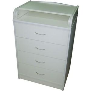 Комод раскладной Атон-Мебель ПВХ (белый) КР60/4 пеленальный комод атон мебель кр80 5 пвх вишня