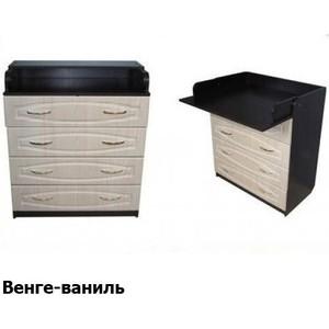 Комод раскладной Атон-Мебель ПВХ (венге-ваниль) КР80/4 пеленальный комод атон мебель кр80 4 пвх лошадка орех ваниль