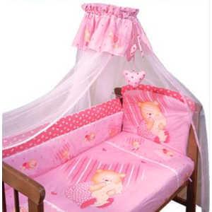 Комплект постельного белья Золотой гусь Мишутка (розовый) 2106 комплект постельного белья золотой гусь мишка царь 8 пр простыня на резинке девочка розовый