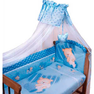 Комплект постельного белья Золотой гусь Мишутка (голубой) 2102 комплект в кроватку золотой гусь ежик топа топ 8 предметов розовый 1286
