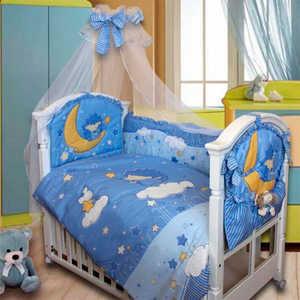 Комплект в кроватку Золотой гусь ''Ежик Топа-топ'' (голубой) 2182