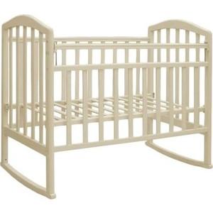 Кроватка Антел Алита-2 колеса/качалка (слоновая кость) обычная кроватка антел алита 2 орех