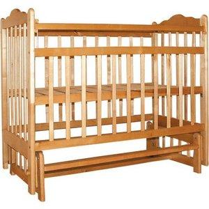 Кроватка Ивашка ''Мой малыш 9'' поперечный маятник (светлый)