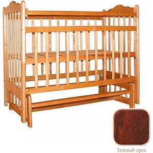 Кроватка Ивашка ''Мой малыш 9'' продольный маятник (темный)