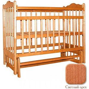 Ивашка Кроватка ''Мой малыш 9'' продольный маятник (светлый)
