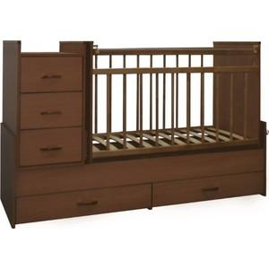 Кровать-трансформер СКВ Компани СКВ-5 с маятником (орех) 534037 кроватка скв березка 120119 бежевый