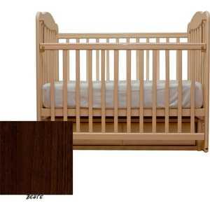 Кроватка Счастливый малыш ''Дюймовочка'' поперечный маятник (венге) 007