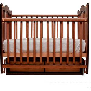Кроватка Счастливый малыш ''Дюймовочка'' поперечный маятник (орех с оттенением) 007