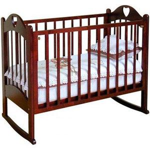 Кроватка Красная звезда ''Любаша'' маятник (шоколад) С635