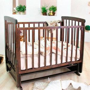 Кроватка Красная звезда ''Марина'' поперечный маятник (шоколад/стразы) С702