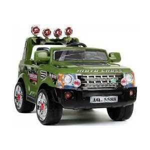 Электромобиль Jetem Range 2 мотора зелёный от ТЕХПОРТ