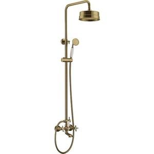 Смеситель для ванны Edelform Verde  душевой стойкой бронза VR2910B