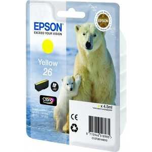 все цены на Картридж Epson Yellow XP600/7/8 (C13T26144010) онлайн