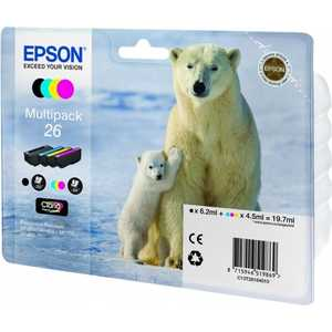 Картридж Epson MultiPack(BCMY) XP600/7/8 (C13T26164010) cartridge chip resetter for epson xp30 xp102 xp300 xp302 xp400 xp600 wf2520 wf2530 wf2521 me401 me303 px405a xp series printers