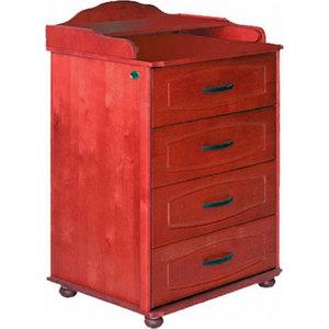 Комод Красная звезда 65см 4 ящика/на ножках/узкий (вишня)