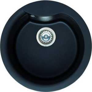 Мойка кухонная Elleci Ego Round 485 vitrotek 86 (LVEROU86) elleci ego corner vitrotek 86 black lvecor 86